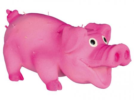 Jucarie Porc Latex cu Tepi 10 cm cu Sunet0