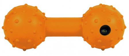 Jucarie Os cu Clopotel Cauciuc Natural 12.5 cm0