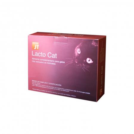 JT- LACTO CAT Lapte praf pentru pisici 4 x 50 grame - Biberon + tetine incluse0