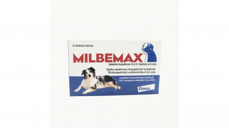 Milbemax Dog 12.5 / 125 mg (5 - 25 kg), 2 tablete1
