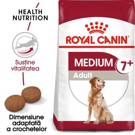 Royal Canin Medium Adult 7+, hrană uscată câini, 4kg [0]