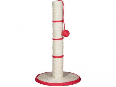 Sisal Plat cu Stalp si Jucarie H50 cm Diametru 31 cm0