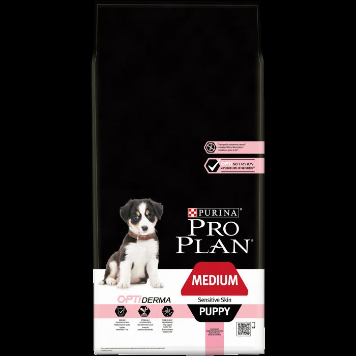 PURINA PRO PLAN Dog Medium Puppy Sensitive Skin Rich in Salmon 12 kg 0