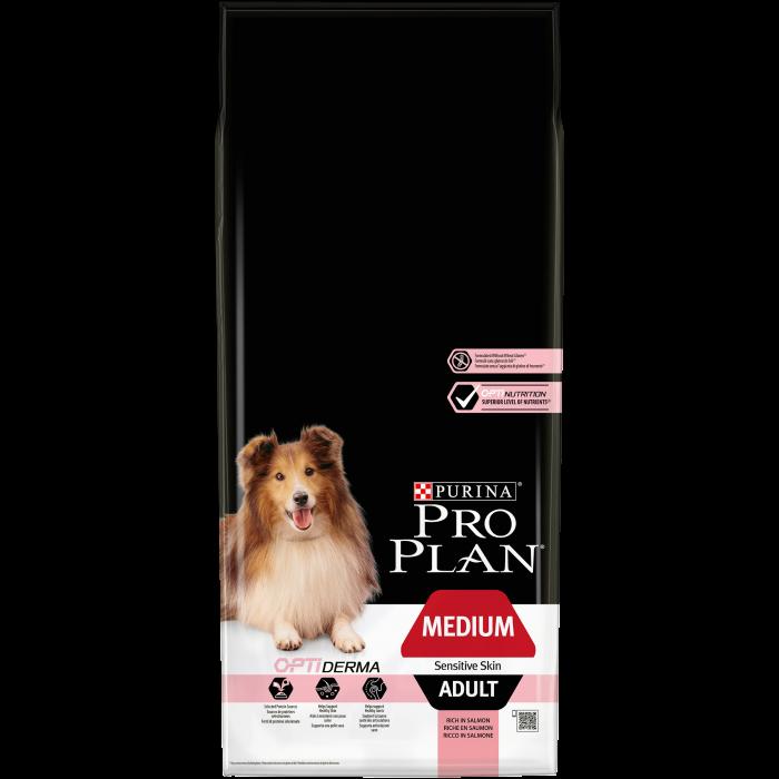 PURINA PRO PLAN Dog Medium Adult Sensitive Skin Rich in Salmon 14 kg 0