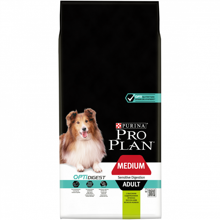PURINA PRO PLAN Dog Medium Adult Sensitive Digestion Rich in Lamb 14 kg 0
