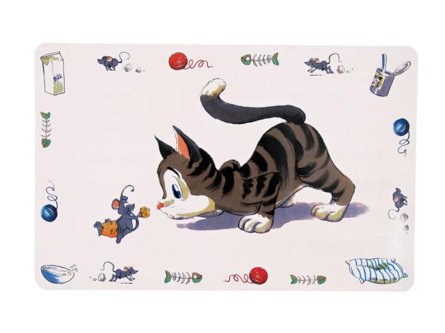 Suport/placemat pentru castron Trixie Comical Cat 44 x 28 cm 24544 0