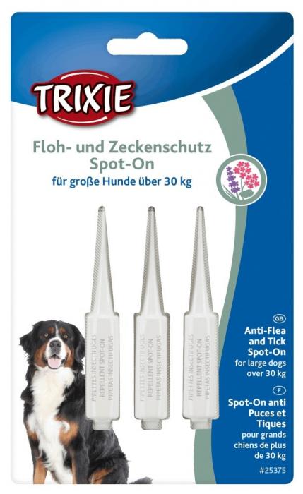 Trixie Picaturi Antiparazitare Spot On 30 kg, 3x5 ml 0