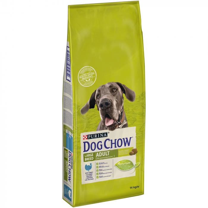 PURINA DOG CHOW ADULT Talie Mare cu Curcan 2.5 kg 0