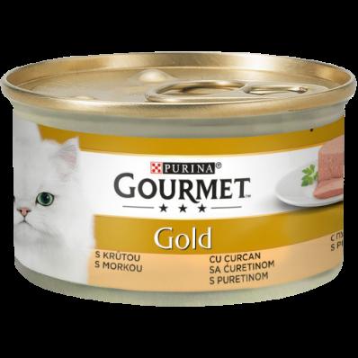 PURINA GOURMET GOLD Mousse cu Curcan, hrana umeda pentru pisici 85 g 0