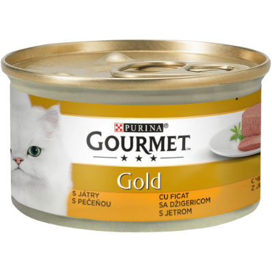 PURINA GOURMET GOLD Mousse cu Ficat, hrana umeda pentru pisici 85 g 0