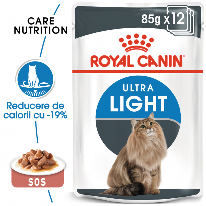 ROYAL CANIN Ultra Light hrana umeda in sos 12x85g 0