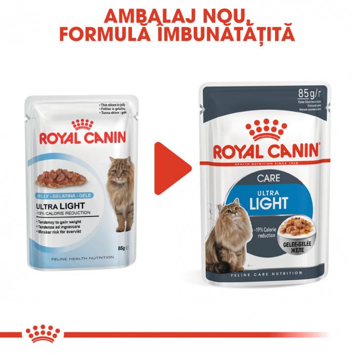 Royal Canin Ultra Light hrana umeda in aspic pentru pisici 12*85 g 1