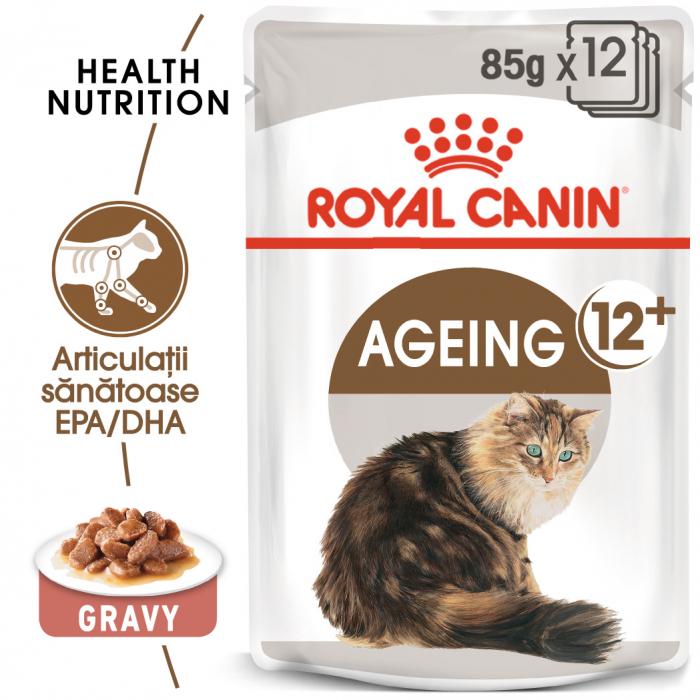 Royal Canin Ageing 12+ Cat hrana umeda in sos pentru pisici 12*85g 0