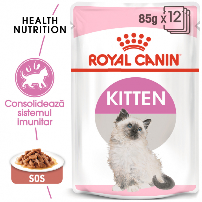ROYAL CANIN Kitten Instinctive hrana umeda in sos 12x85g 0