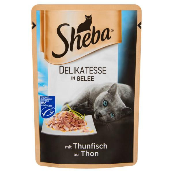 SHEBA Delikatesse cu ton in aspic, hrana umeda pentru pisici adulte 85 g 0