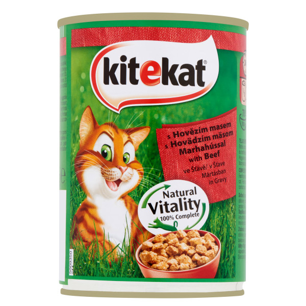 KITEKAT Conserva cu vita in sos, hrana umeda pentru pisici adulte, 400 g 0