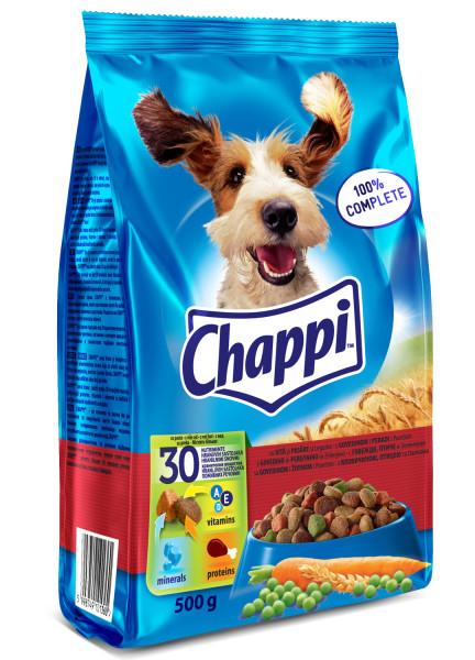 CHAPPI Vita, pasare si legume, hrana uscata pentru caini adulti, 500 g 0