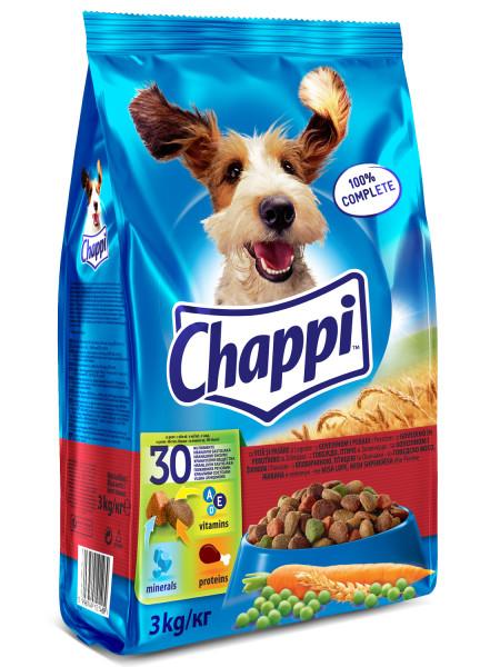 CHAPPI Vita, pasare si legume, hrana uscata pentru caini adulti, 3 kg 0