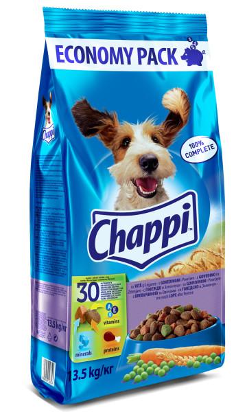 CHAPPI Vita si legume, hrana uscata pentru caini adulti, 13.5 kg 0