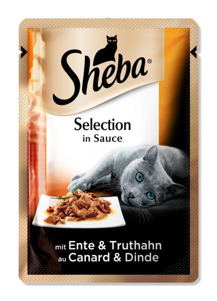 SHEBA Selection rata si curcan in sos, hrana umeda pentru pisici adulte 85 g 0