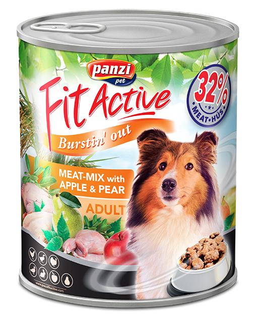 5+1 Fit Active Premium Adult Dog, conserva mix de carne 415 g 1