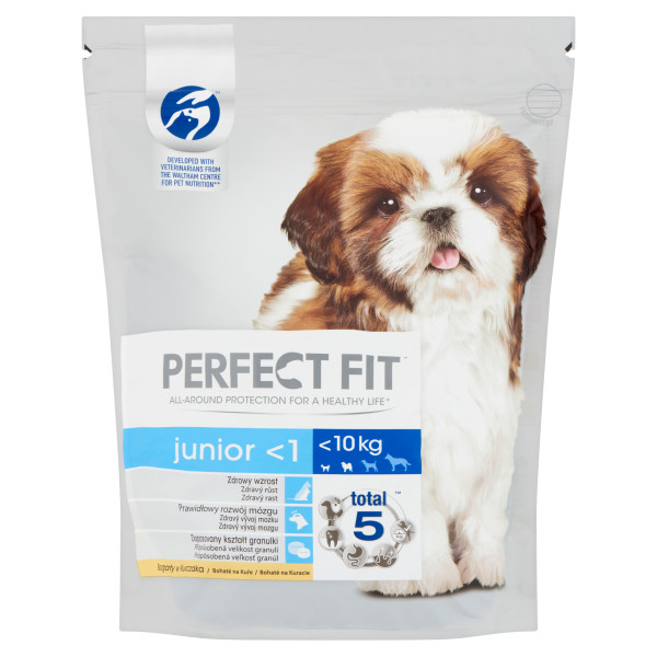 PERFECT FIT DOG Junior, Small &Mini, hrana uscata cu pui 825 g 0