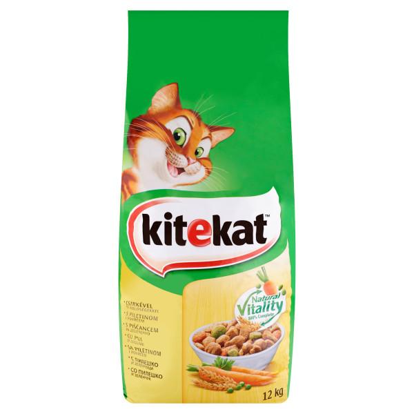 KITEKAT pui si legume, hrana uscata pentru pisici adulte 12 kg 0