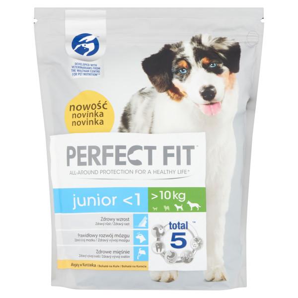 PERFECT FIT DOG Junior, Medium & Large, hrana uscata cu pui 1.4 kg 0