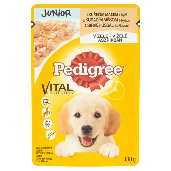 PEDIGREE Vital Protection Plic cu pui si orez in aspic, hrana umeda pentru caini juniori 100g 0