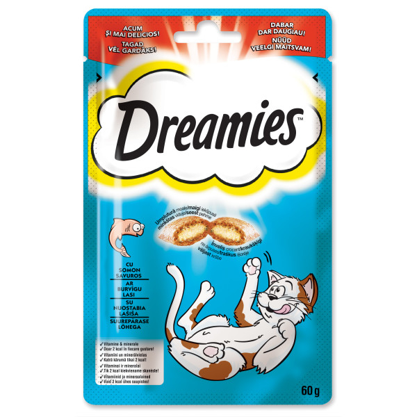 Dreamies Cat Recompense cu somon 60 g 0