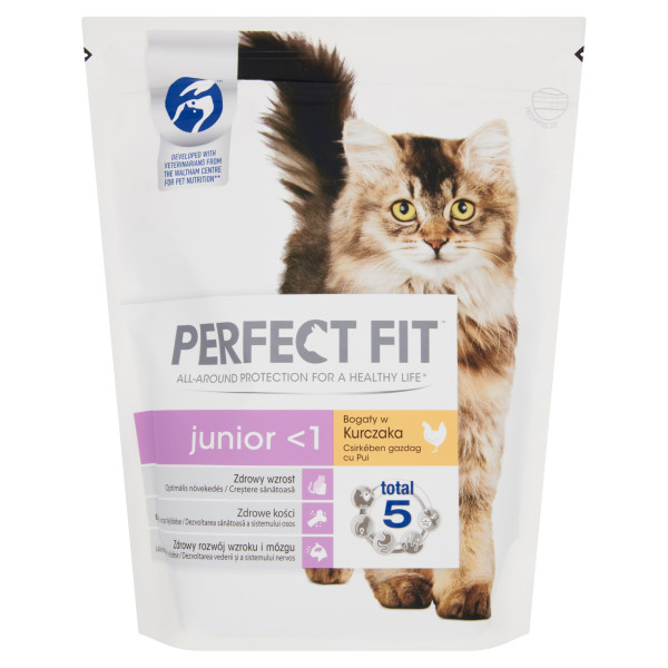 PERFECT FIT CAT Junior,  hrana uscata cu pui 750 g 0