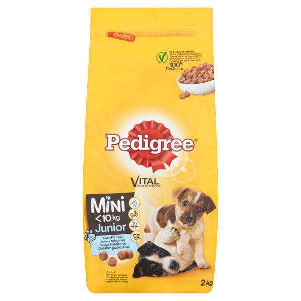 PEDIGREE Vital Protection cu pui si orez, hrana uscata pentru caini juniori de talie mica 2 kg 0
