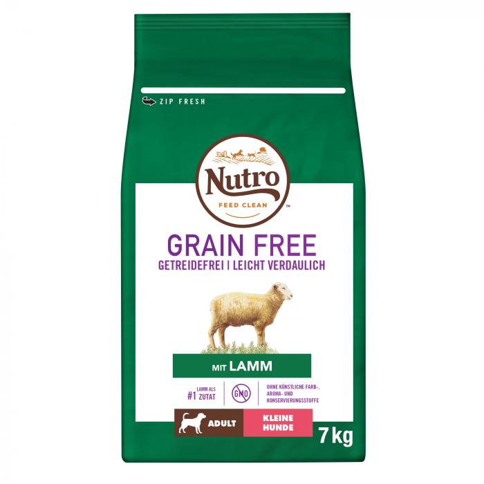 NUTRO GRAIN FREE™ Hrană Uscată cu Miel pentru Câine Adult de Talie Mică 7 kg 0