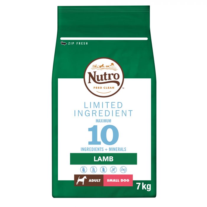 NUTRO™ LIMITED INGREDIENT Hrană Uscată cu Miel pentru Câine Adult de Talie Mică 7 kg 0