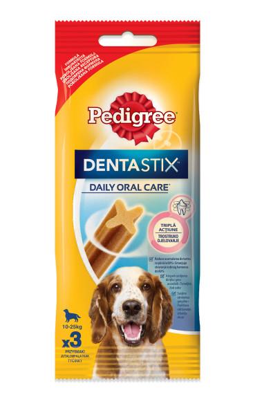 PEDIGREE DentaStix pentru caini de talie medie, batoane dentare 77g 0