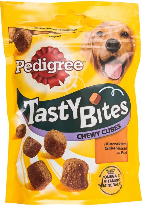 PEDIGREE Tastybites Cubulete Gumate, recompense pentru caini 130g 0