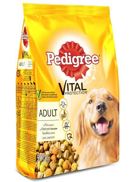 PEDIGREE Vital Protection cu pui si legume, hrana uscata pentru caini adulti 500g 0