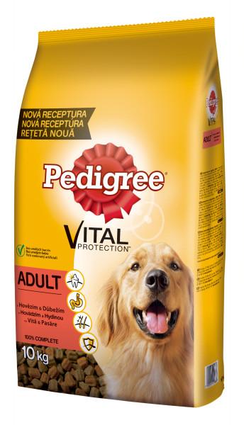 PEDIGREE Vital Protection cu vita si pasare, hrana uscata pentru caini adulti 10 kg 0