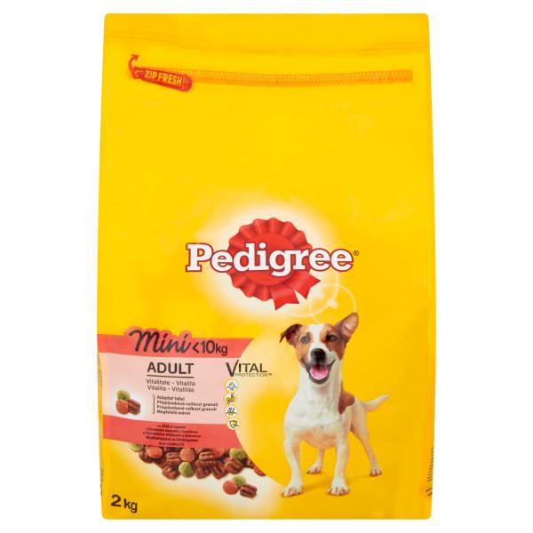 PEDIGREE Vital Protection cu vita si legume,  hrana uscata pentru caini adulti de talie mica 2 kg 0