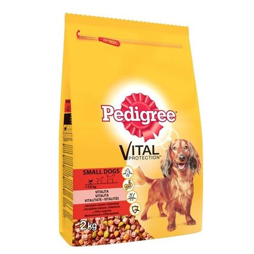 PEDIGREE Vital Protection cu vita si legume,  hrana uscata pentru caini adulti de talie mica 400 g 0