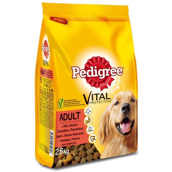 PEDIGREE Vital Protection cu vita si pasare, hrana uscata pentru caini adulti 2.6 kg 0