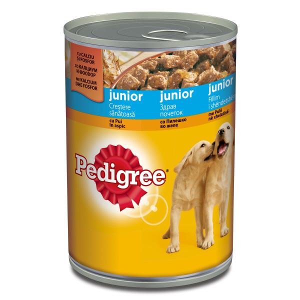 PEDIGREE conserva cu pui in aspic, hrana umeda pentru caini juniori 400g 0
