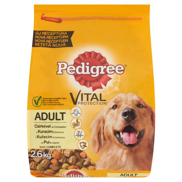 PEDIGREE Vital Protection cu pui si legume, hrana uscata pentru caini adulti 2.6 kg 0