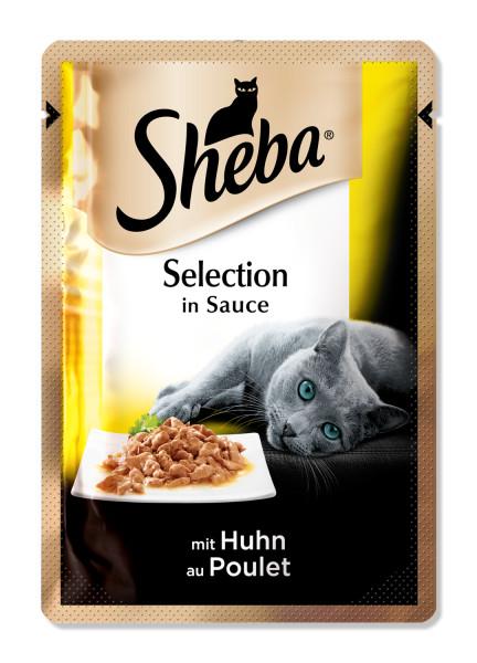 SHEBA Selection pui in sos, hrana umeda pentru pisici adulte 85 g 0