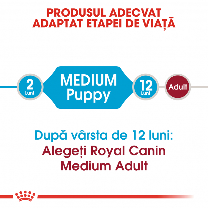 Royal Canin Medium Puppy hrana uscata pentru caini 4 kg 3