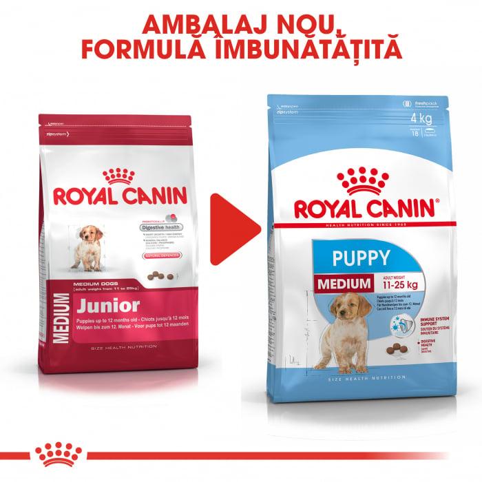 Royal Canin Medium Puppy hrana uscata pentru caini 4 kg 1