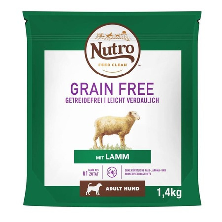 Nutro Grain Free Adult, talie medie, 1.4 kg, miel 0