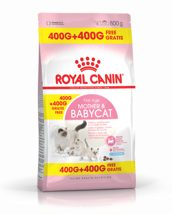 ROYAL CANIN Mother&Babycat 400g+400 g gratuit 0
