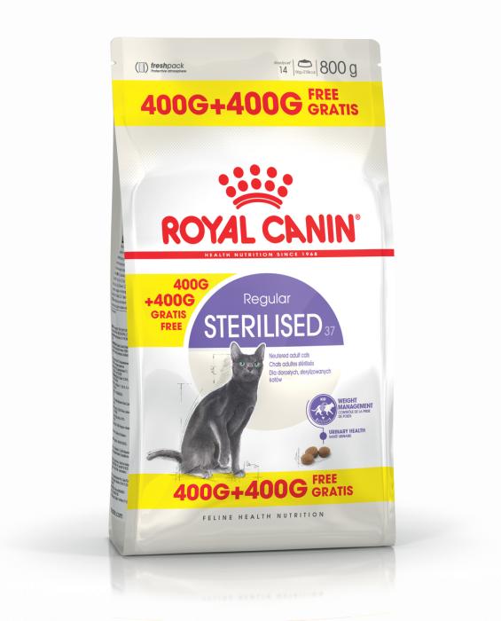 ROYAL CANIN Sterilised 37, 400g+400 g gratuit 0