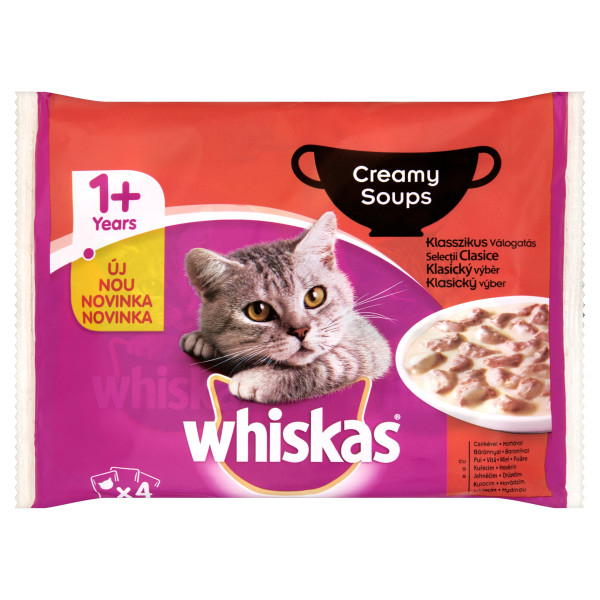 Whiskas Adult Creamy Soup Selectii Clasice 4*85 g 0
